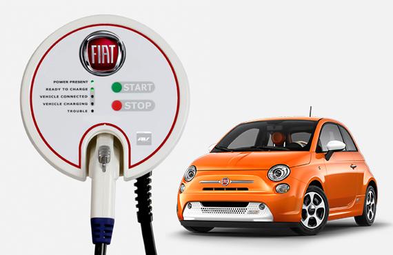 Fiat 500e 240v charger